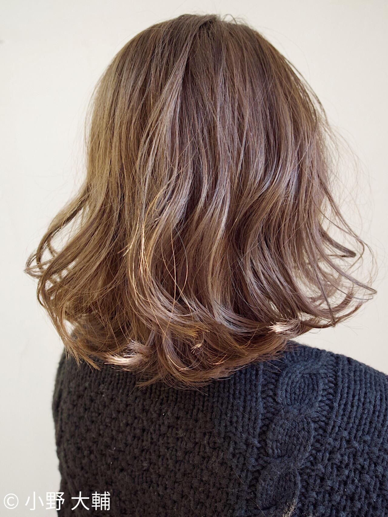 ミルクティーベージュ ナチュラル ボブヘアー ミディアム ヘアスタイルや髪型の写真・画像