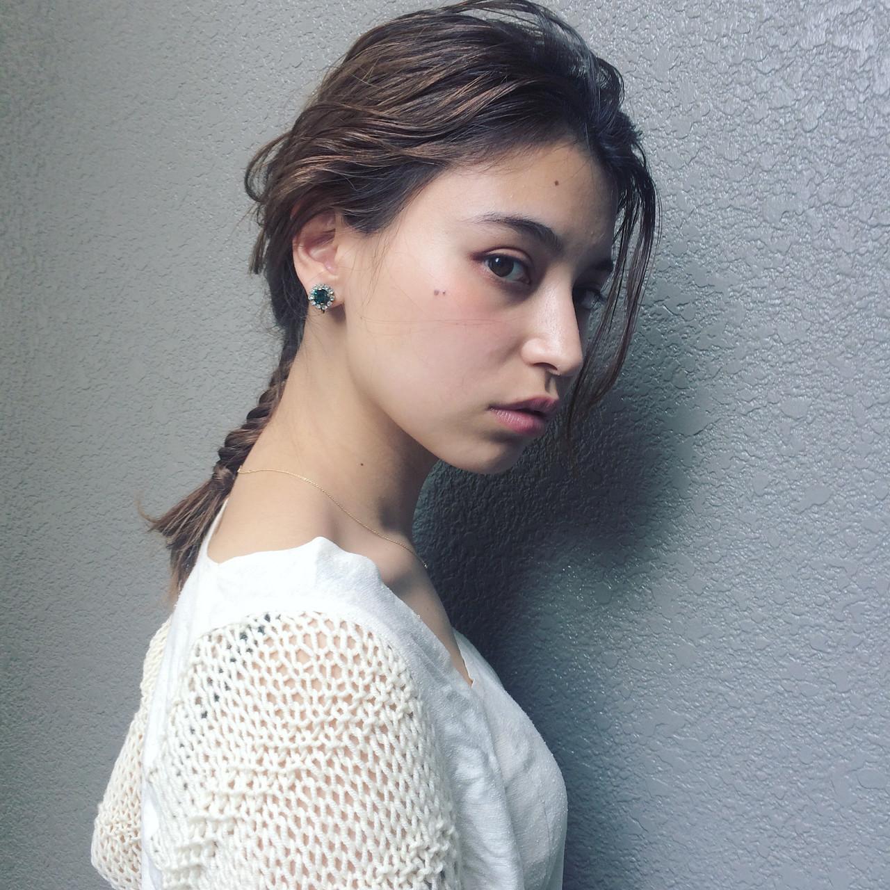 前髪なしでシンプルにまとめておしゃれ♪ 石橋 美香