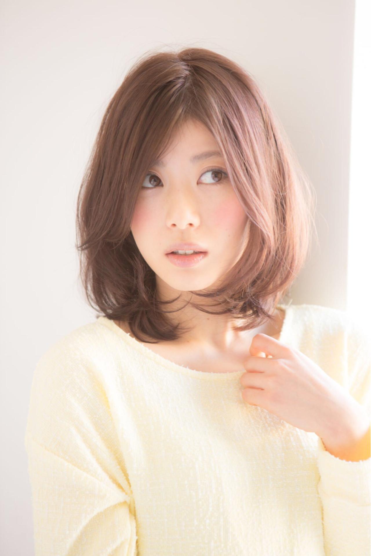 色気 ナチュラル ヘアアレンジ ミディアム ヘアスタイルや髪型の写真・画像