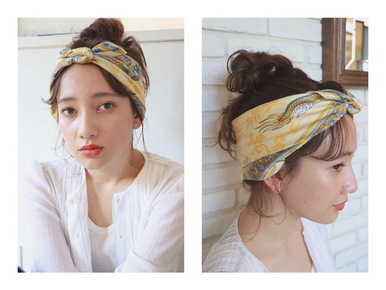 スカーフでつくる簡単伸ばしかけ前髪アレンジ 一色 さおりLOAVE AOYAMA(ローブ アオヤマ)