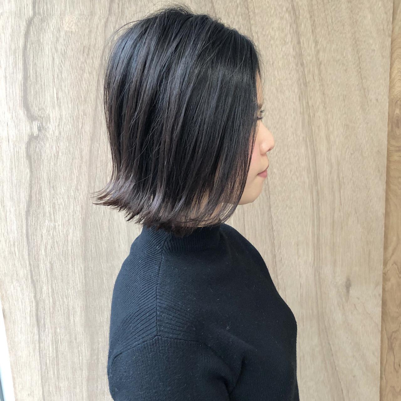 毛先外ハネでつくる旬顔ショートボブアレンジ 松井勇樹