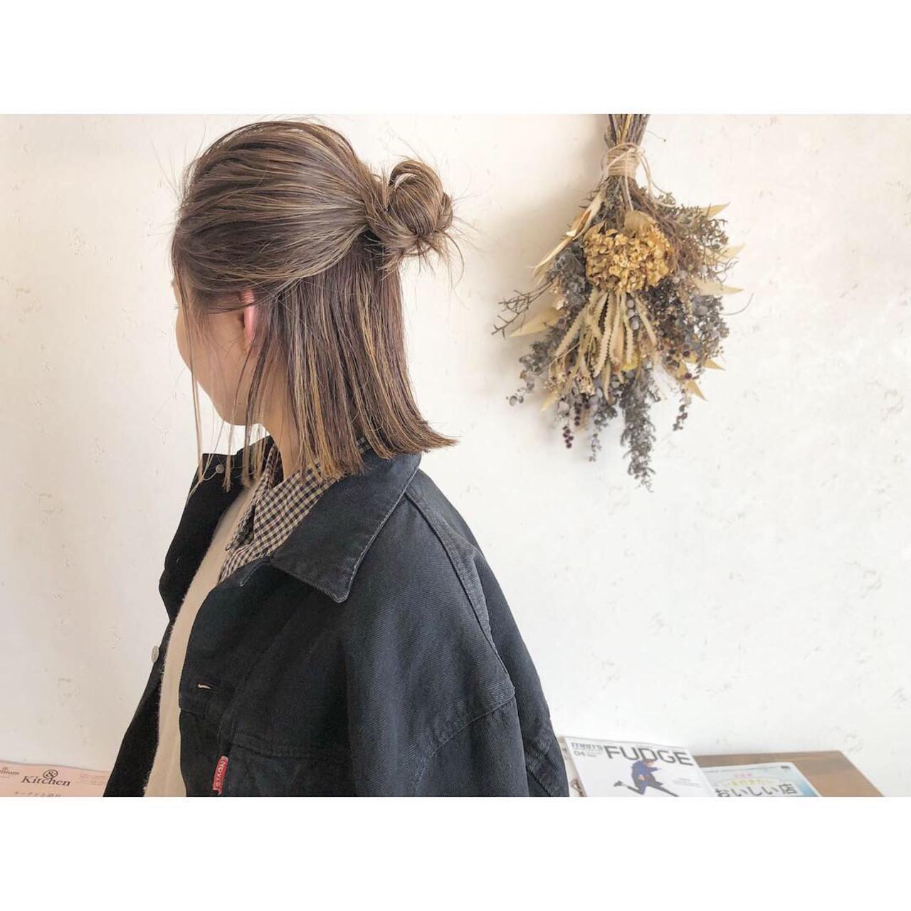 ハイトーンが決め手のハーフアップアレンジ 森下佳哲lufun hair design