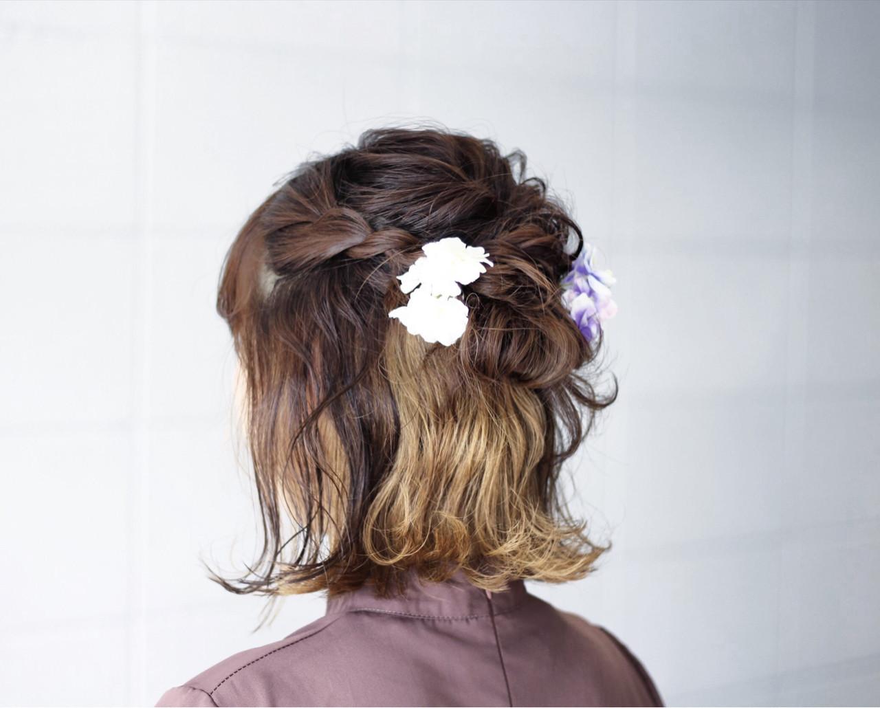外ハネをプラスした華やかアレンジ Hatori Masakirela hair salon