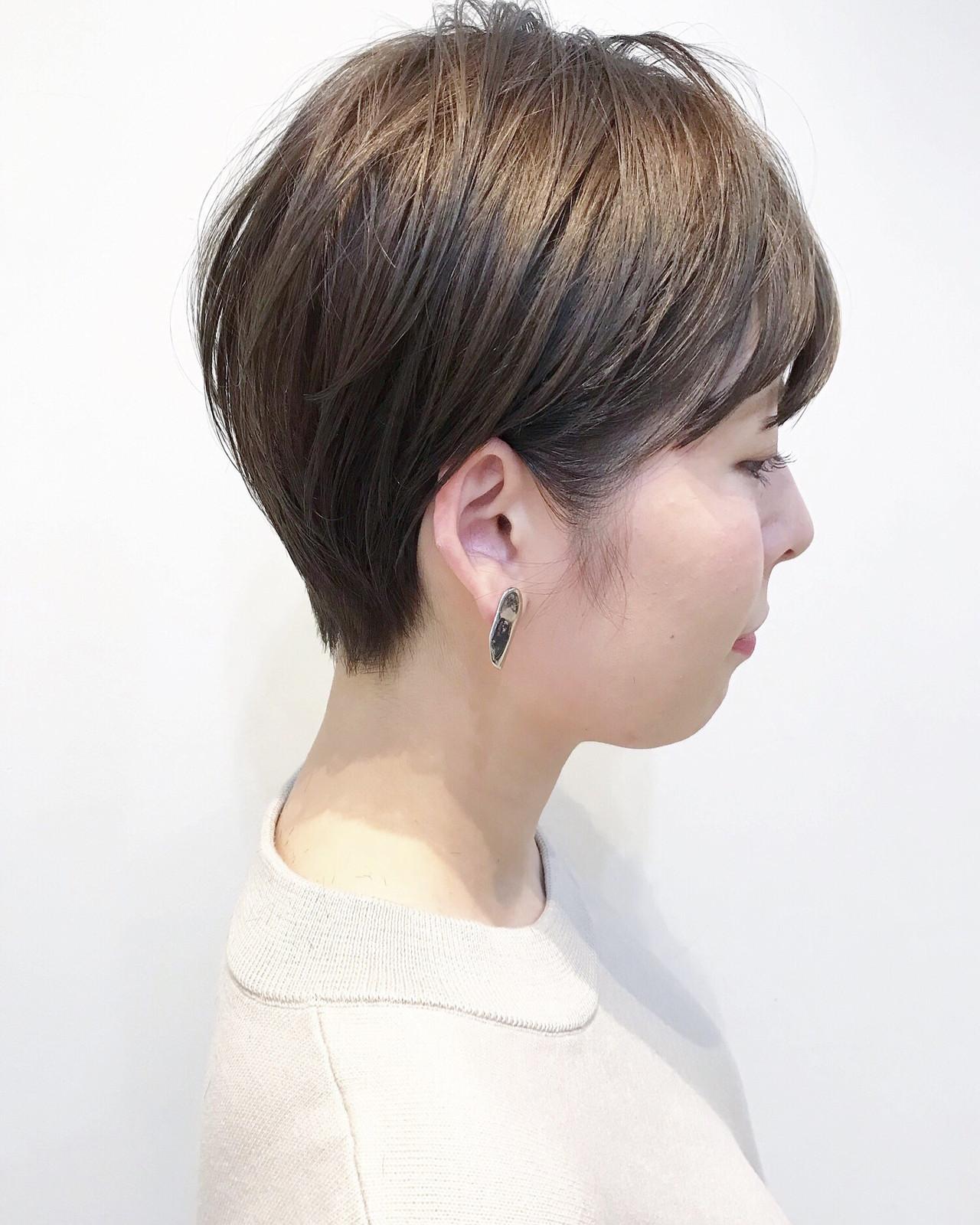 ショートヘア ショートボブ ベリーショート ヘアアレンジ ヘアスタイルや髪型の写真・画像