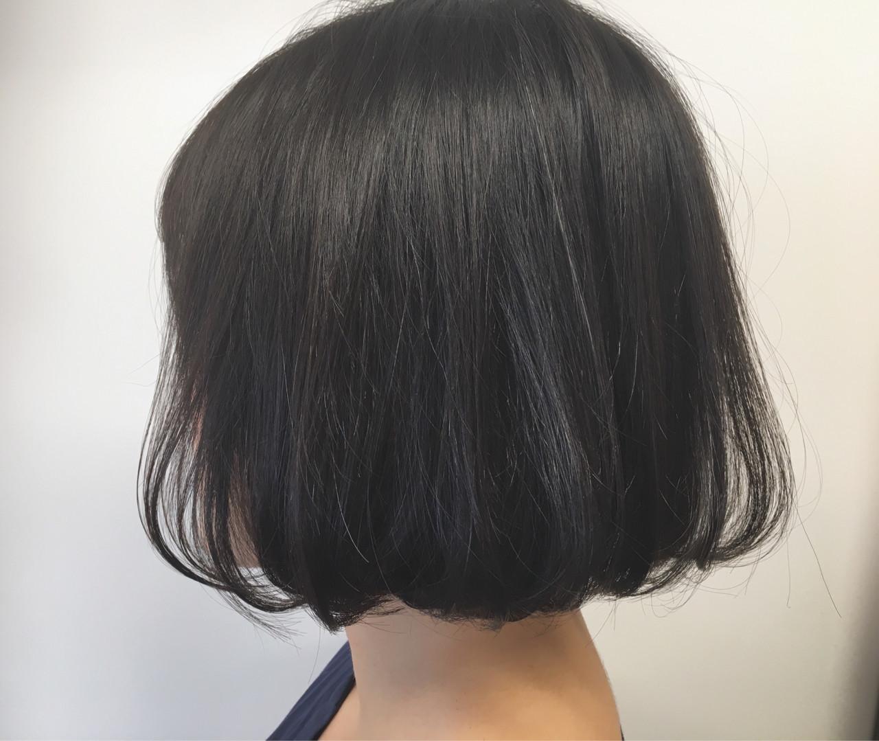 内巻き デート ボブ エアリー ヘアスタイルや髪型の写真・画像