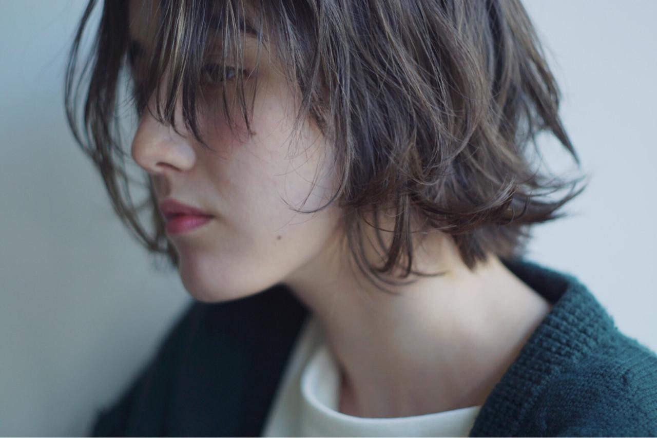 オーガニックカラー シアー シアーベージュ ボブ ヘアスタイルや髪型の写真・画像