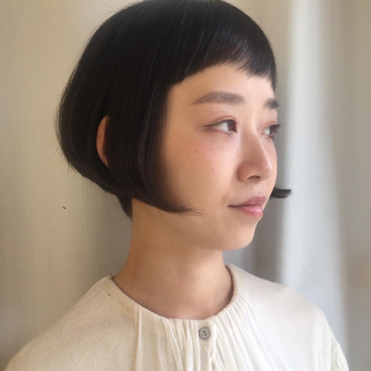 オン眉でつくる美シルエット刈り上げボブ 岩城 浩子