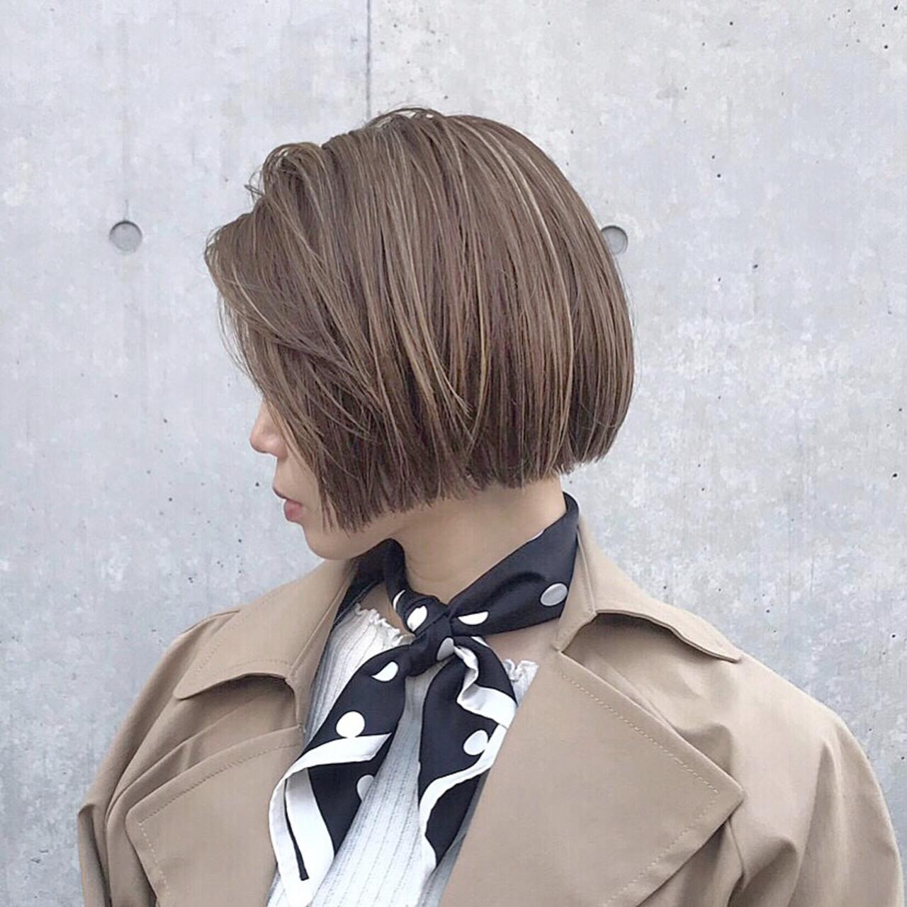 ショートボブ ボブ オフィス ミニボブ ヘアスタイルや髪型の写真・画像