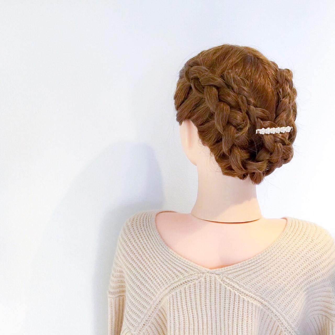 デート 結婚式 セミロング フェミニン ヘアスタイルや髪型の写真・画像