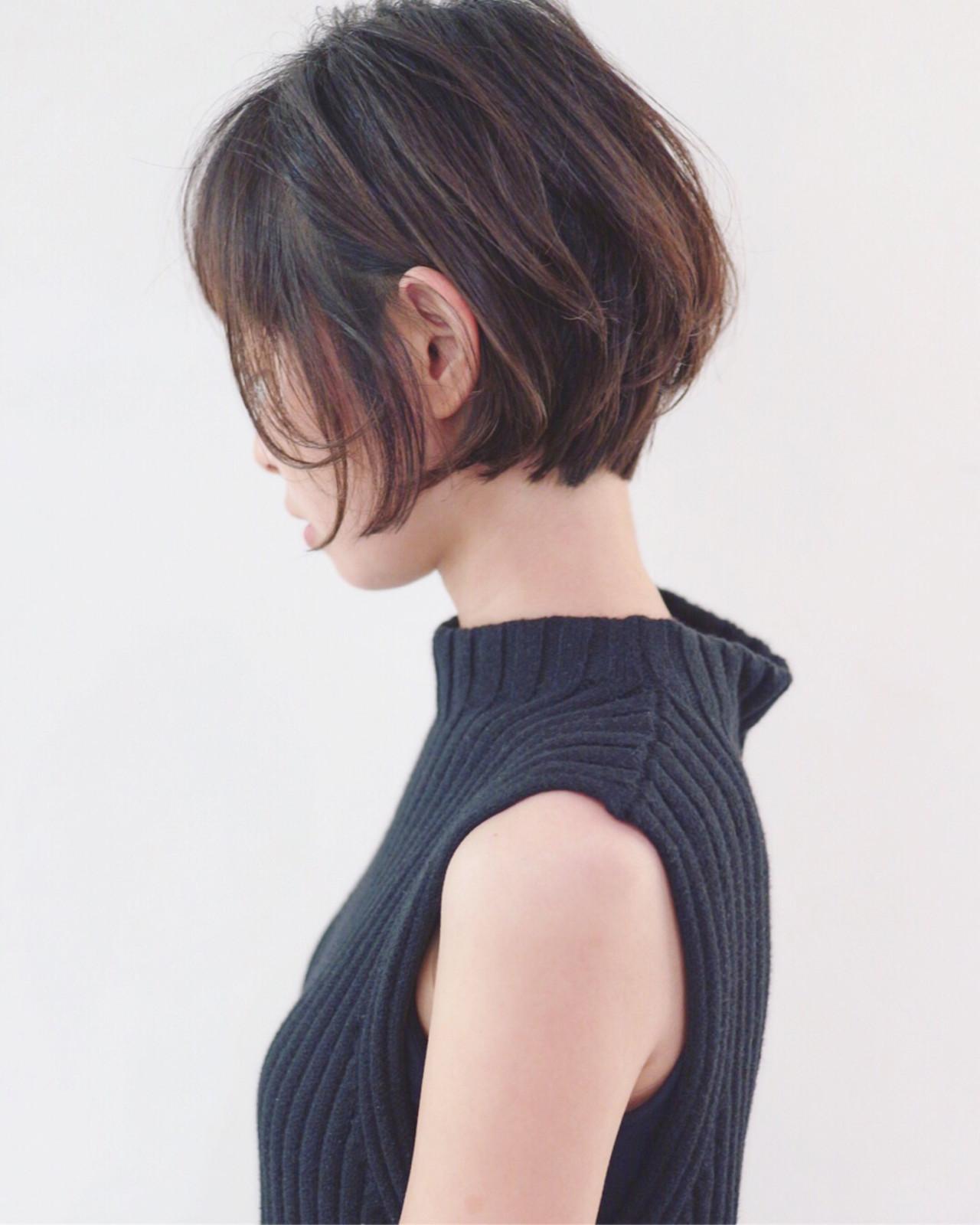 ナチュラル 女子力 ショート グラデーションカラー ヘアスタイルや髪型の写真・画像