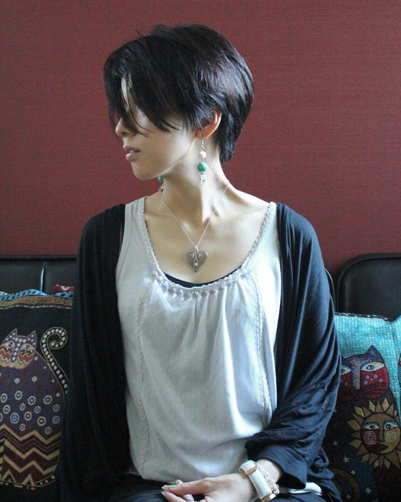 アンニュイほつれヘア ショート ベリーショート フェミニン ヘアスタイルや髪型の写真・画像