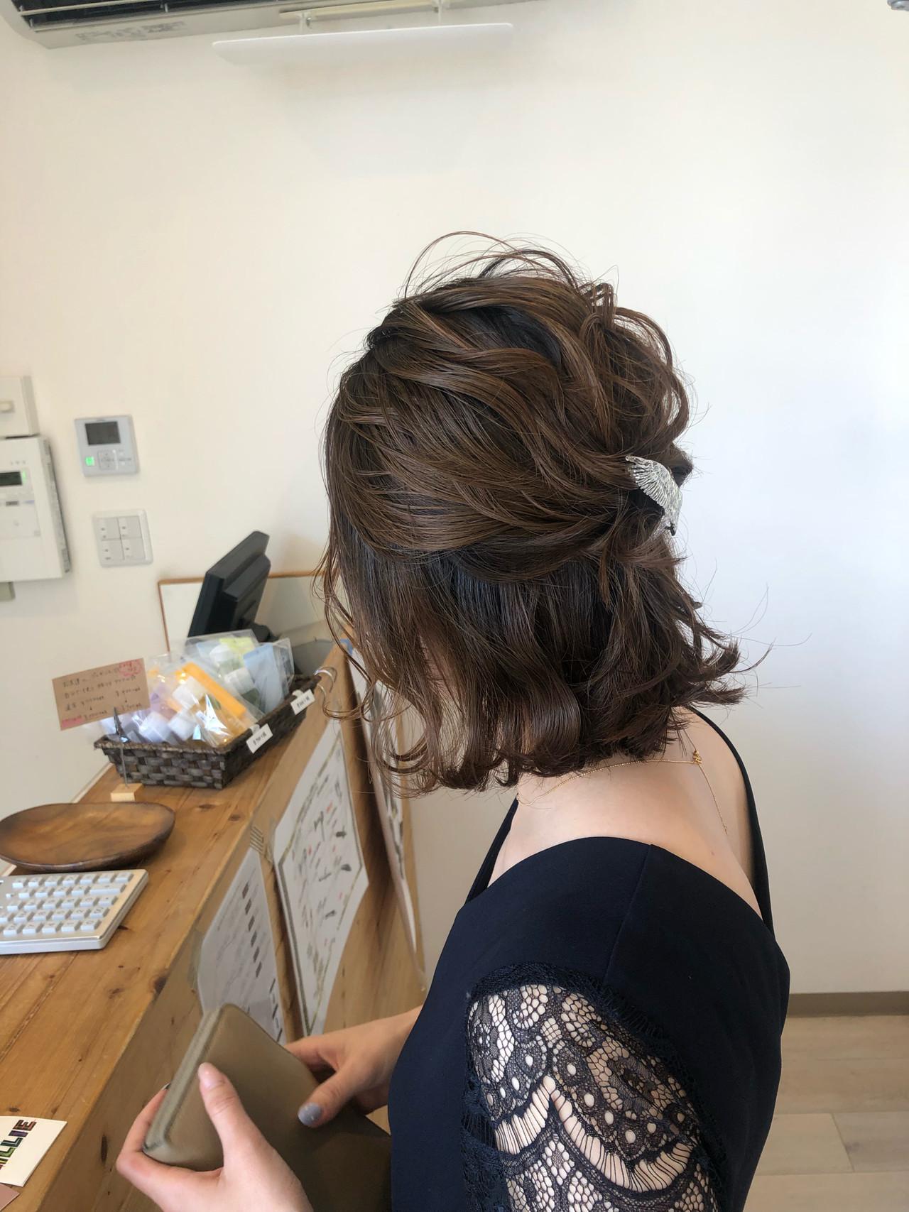 結婚式にもおすすめのエレガントなハーフアップアレンジ 宇渡 裕一Lillie hair&spa