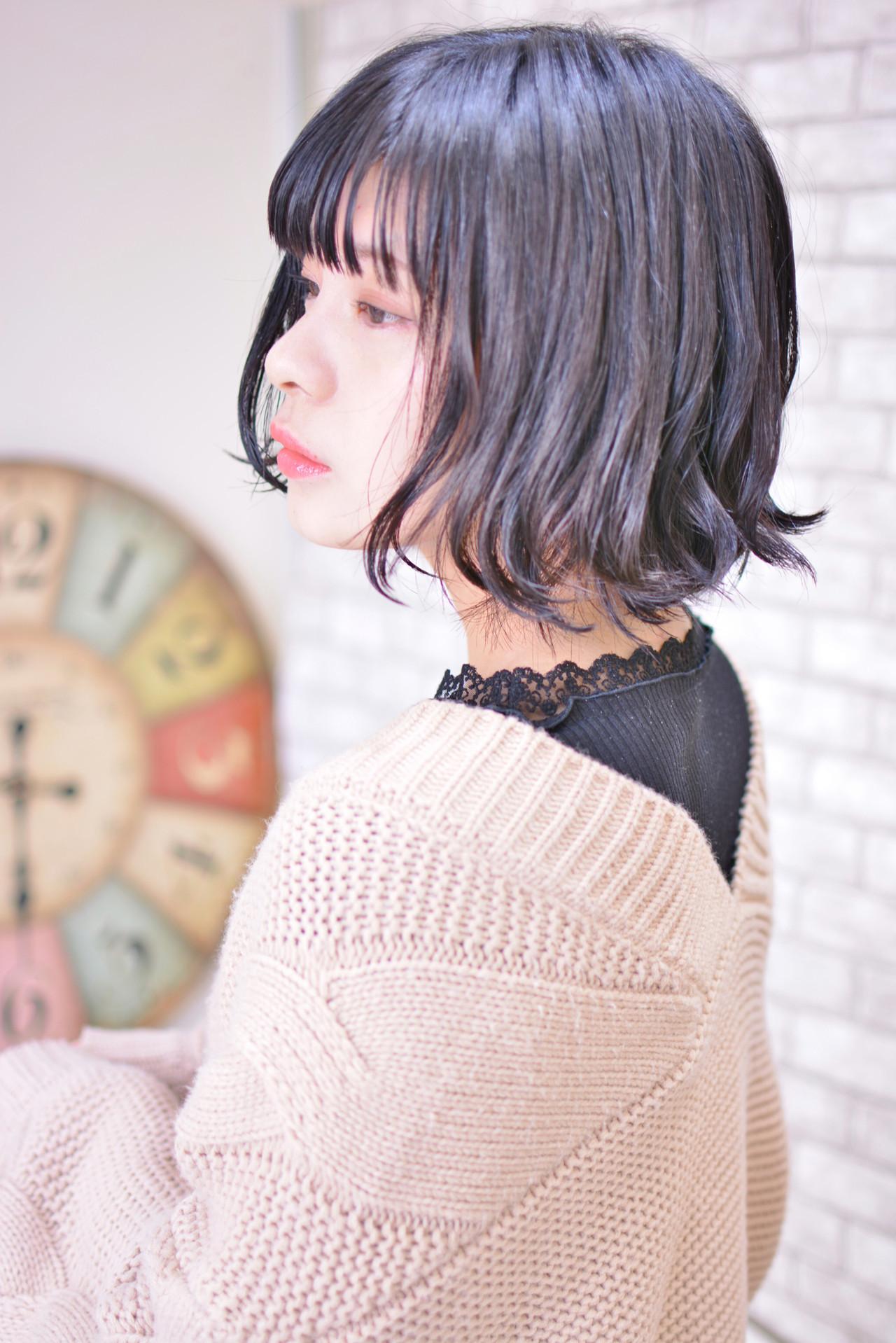 黒髪ウェーブで上品さも可愛さも Shiko Kajihara