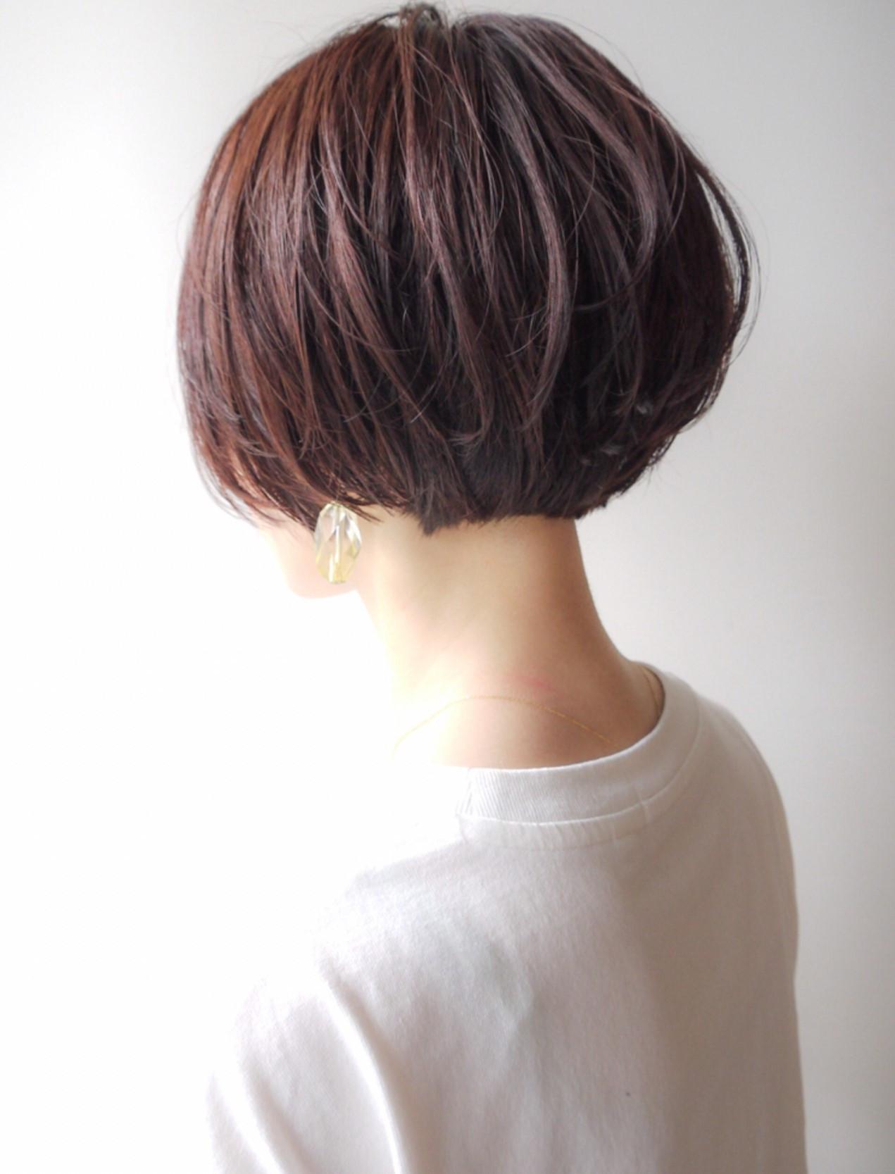 コンサバ ボブ アウトドア ハンサムショート ヘアスタイルや髪型の写真・画像