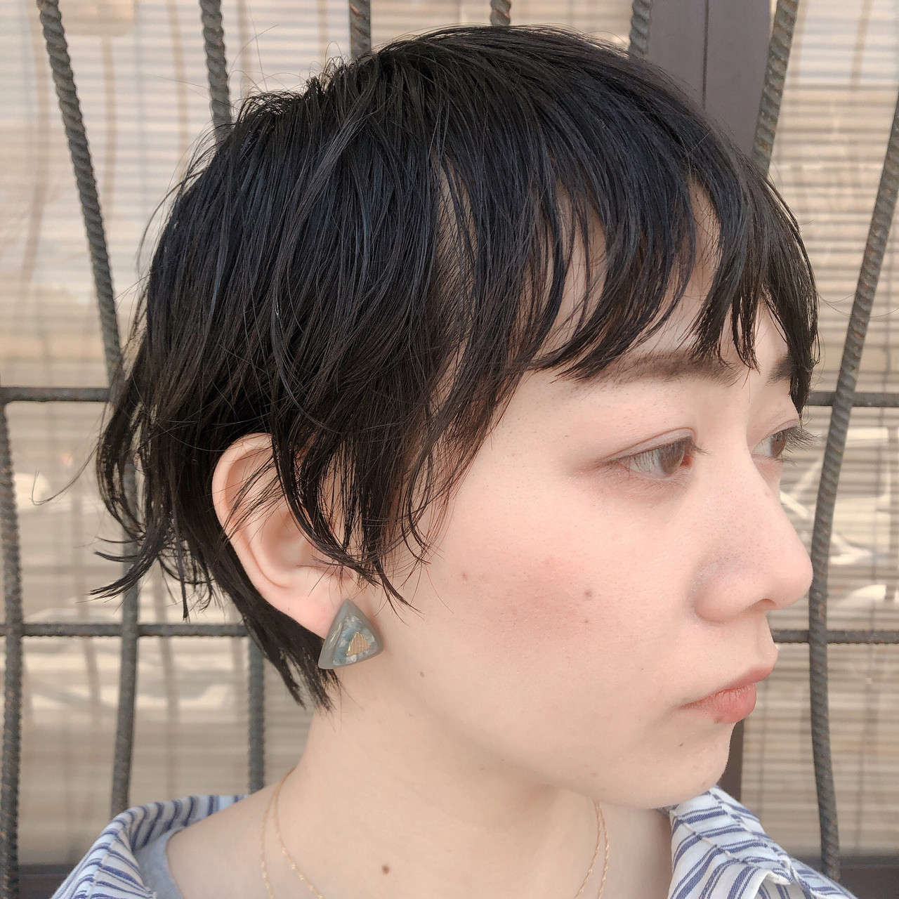 ヘアカット ゆるウェーブ ボブ モード ヘアスタイルや髪型の写真・画像