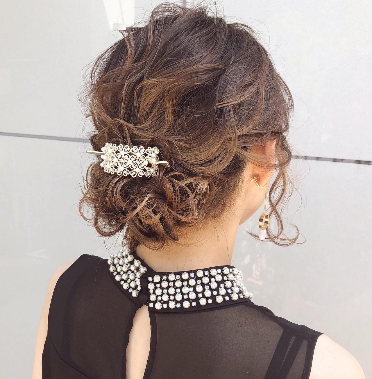 アンニュイほつれヘア ヘアアレンジ 簡単ヘアアレンジ 結婚式 ヘアスタイルや髪型の写真・画像