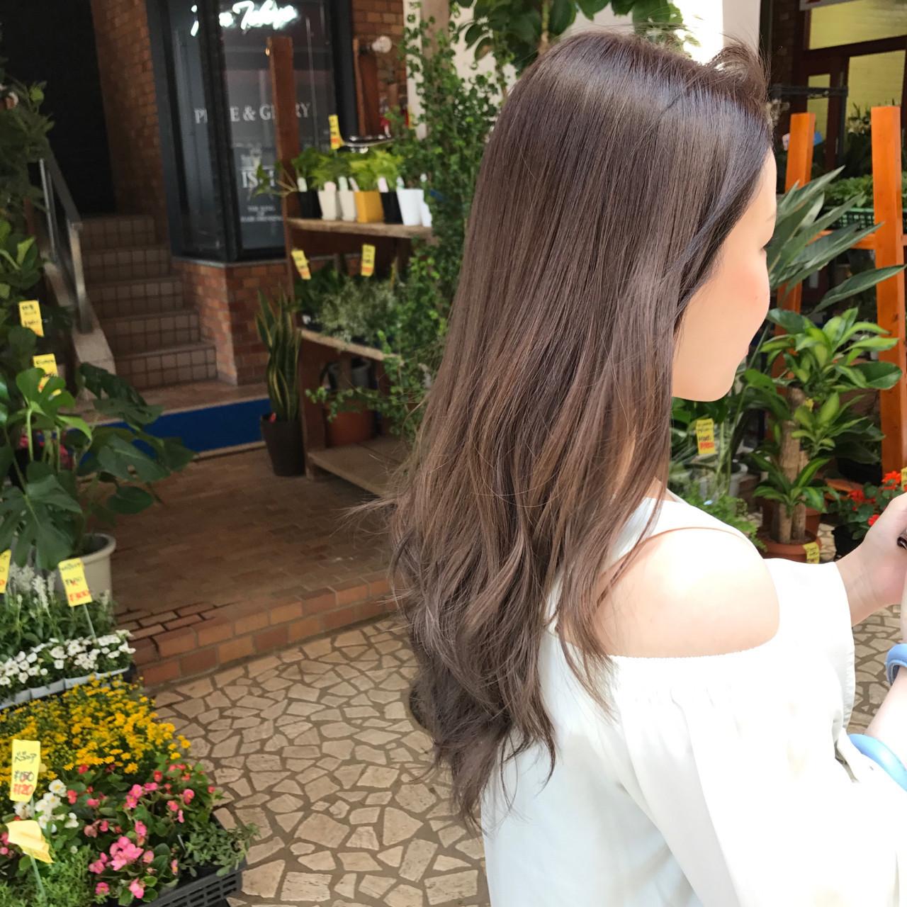 デート ロング 女子会 ナチュラル ヘアスタイルや髪型の写真・画像