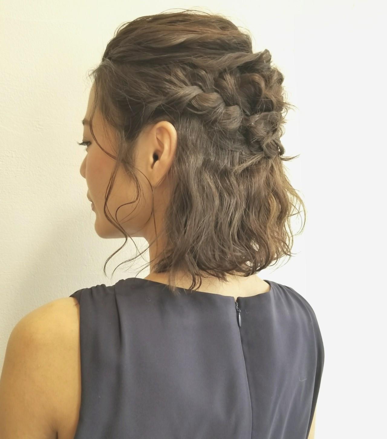 結婚式OK!編み込みでつくるハーフアップヘア 川田 義人 GREEK hairdesign