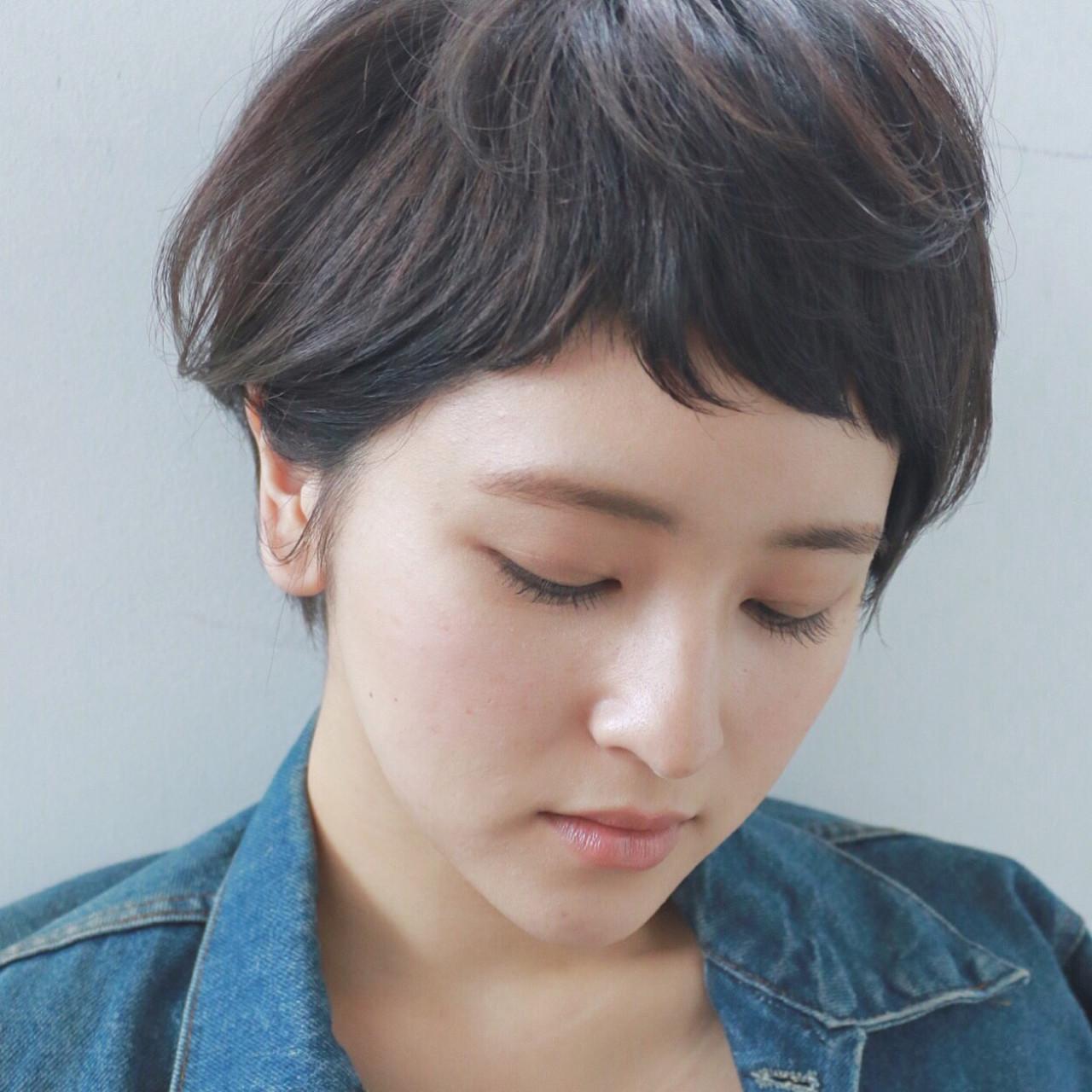 ベリーショート ナチュラル 簡単 ショート ヘアスタイルや髪型の写真・画像