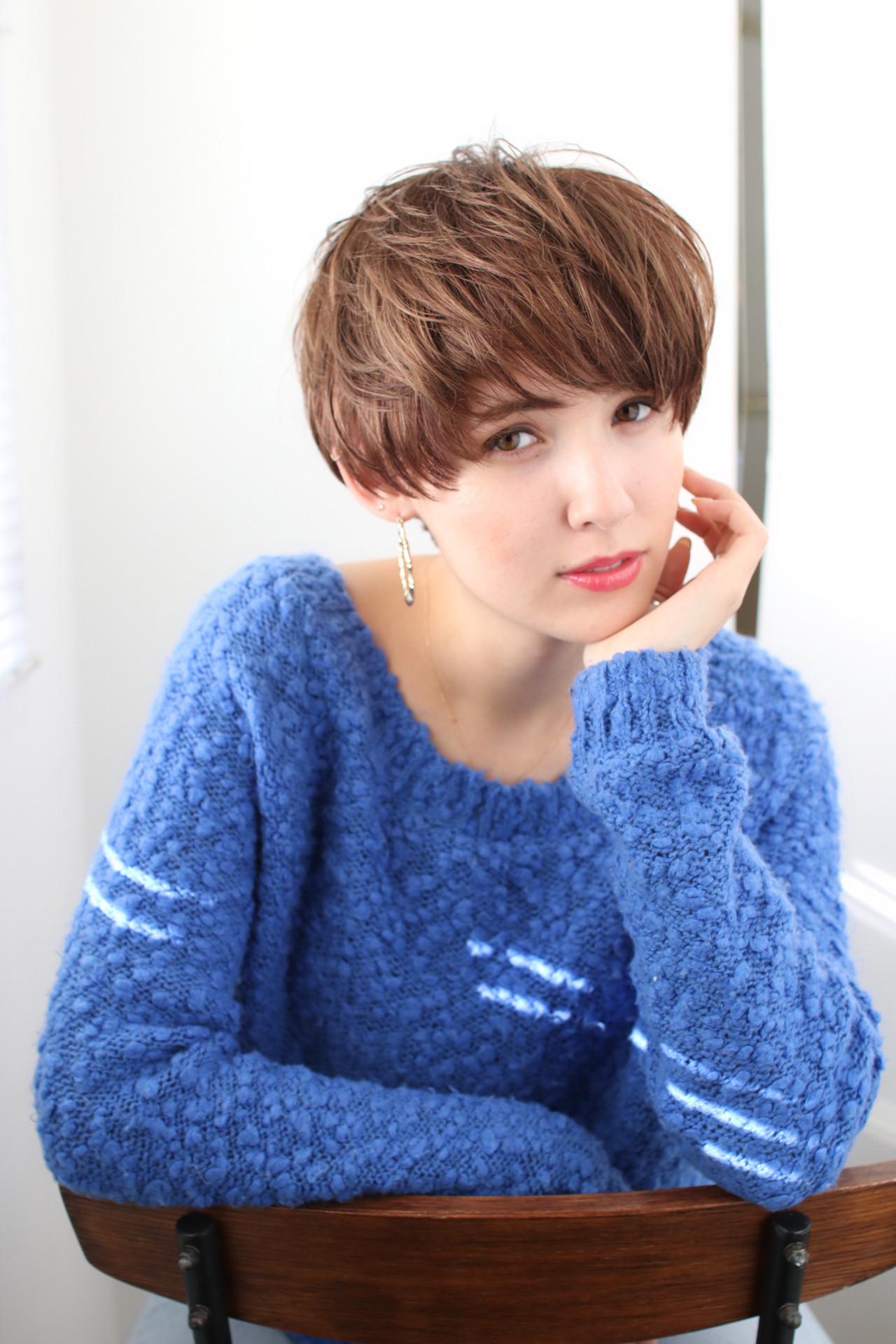 30代 ショート ヘアアレンジ フェミニン ヘアスタイルや髪型の写真・画像