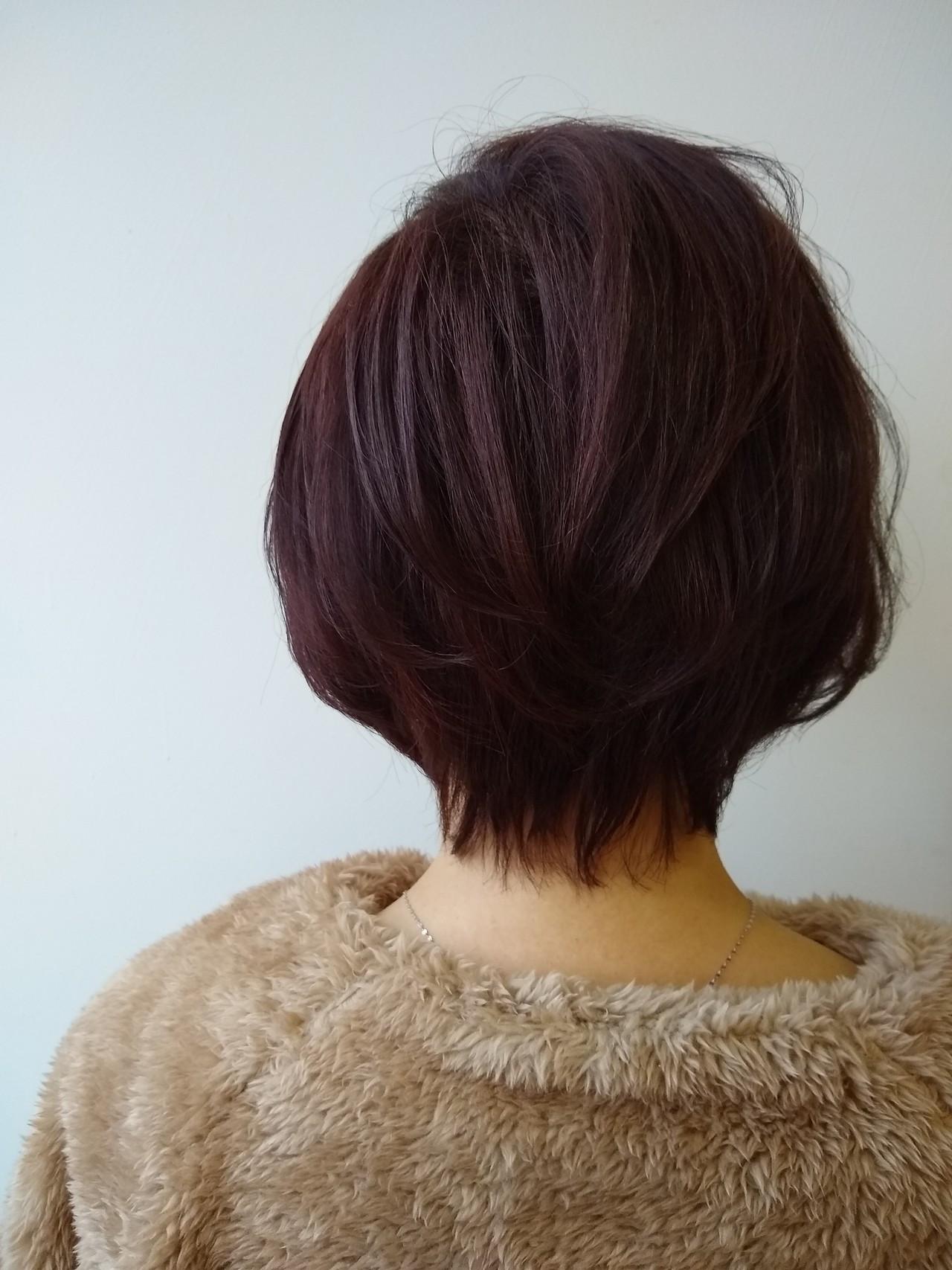 ピンクブラウンでツヤ髪ショート 北野陽平