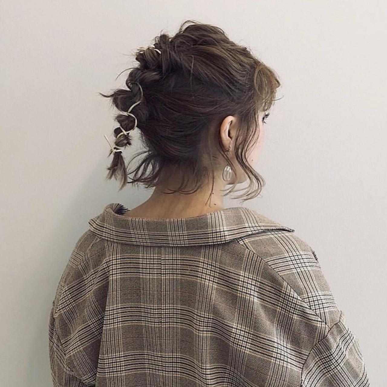 くるりんぱで編み込みポニーテール風 HARUNA