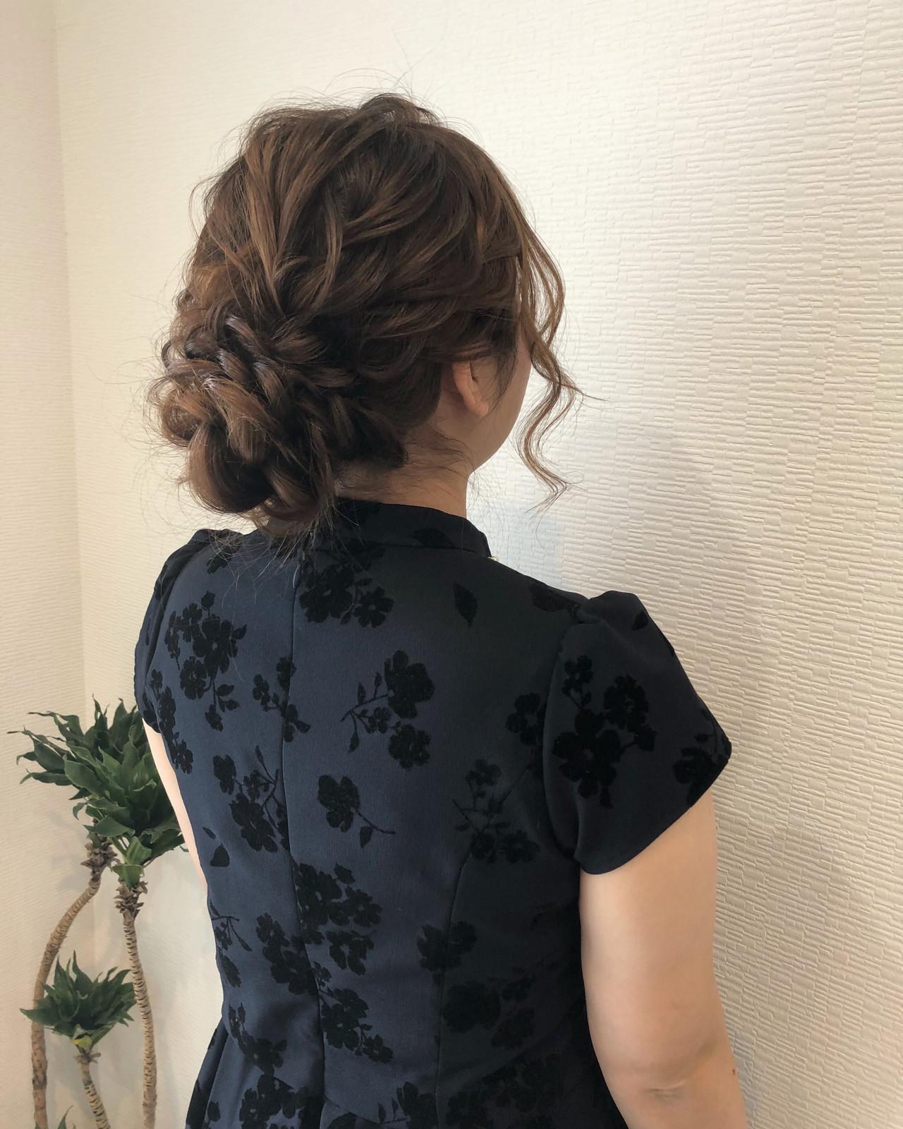 アップスタイル 結婚式 ヘアアレンジ 編み込み ヘアスタイルや髪型の写真・画像
