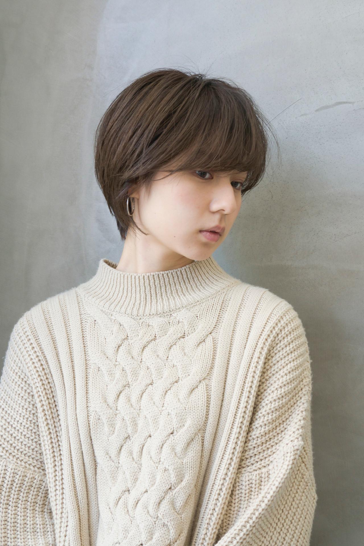 モテ髮シルエット ショート ラフ お手入れ簡単!! ヘアスタイルや髪型の写真・画像