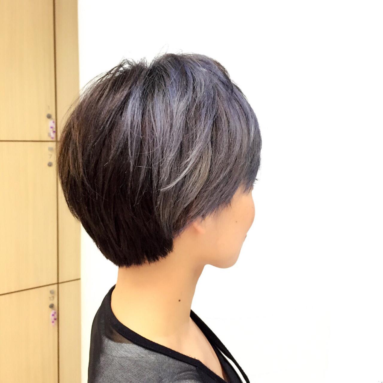 暗髪 ブルー 黒髪 かっこいい ヘアスタイルや髪型の写真・画像