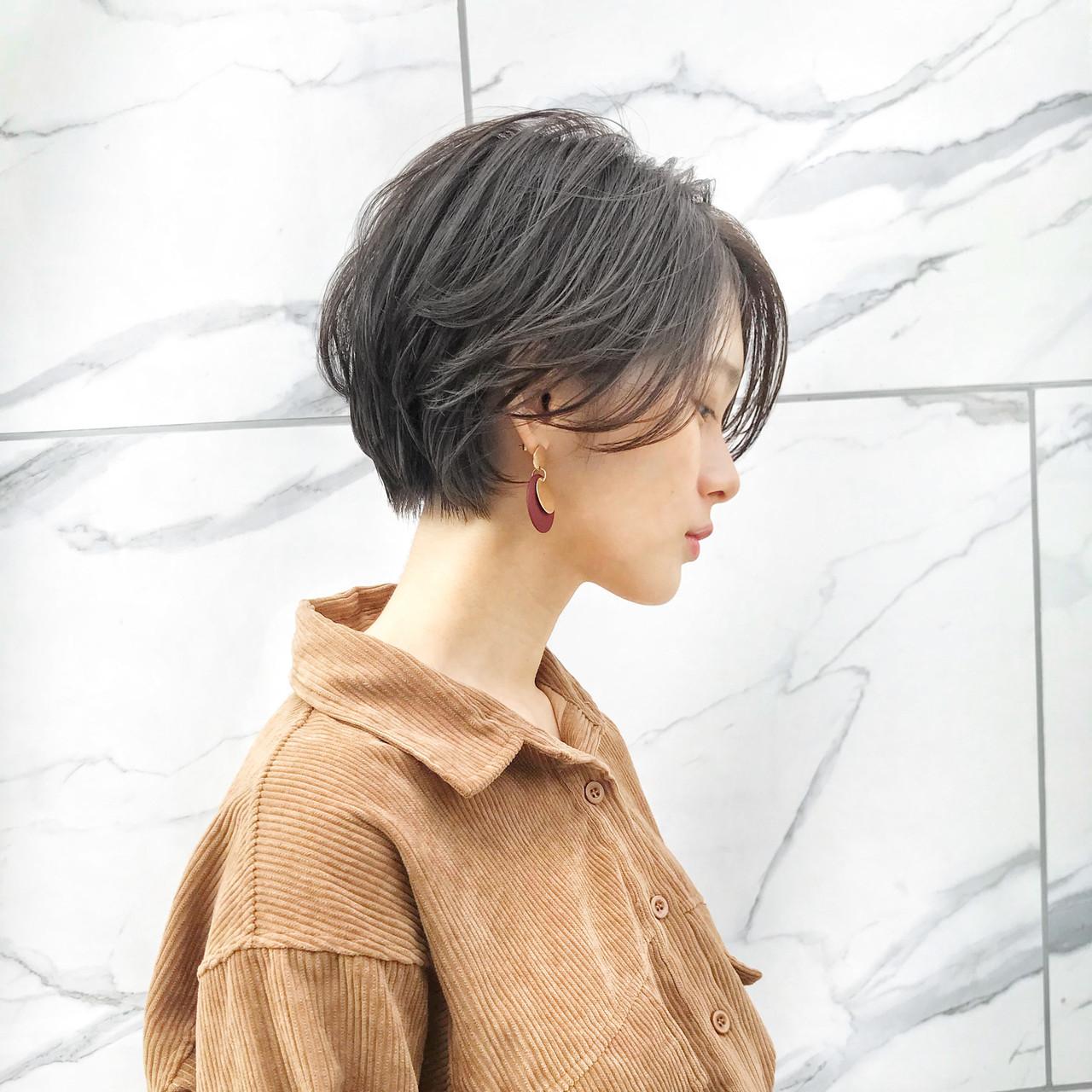 長め前髪はパーマで流して MANOHARU 新屋敷