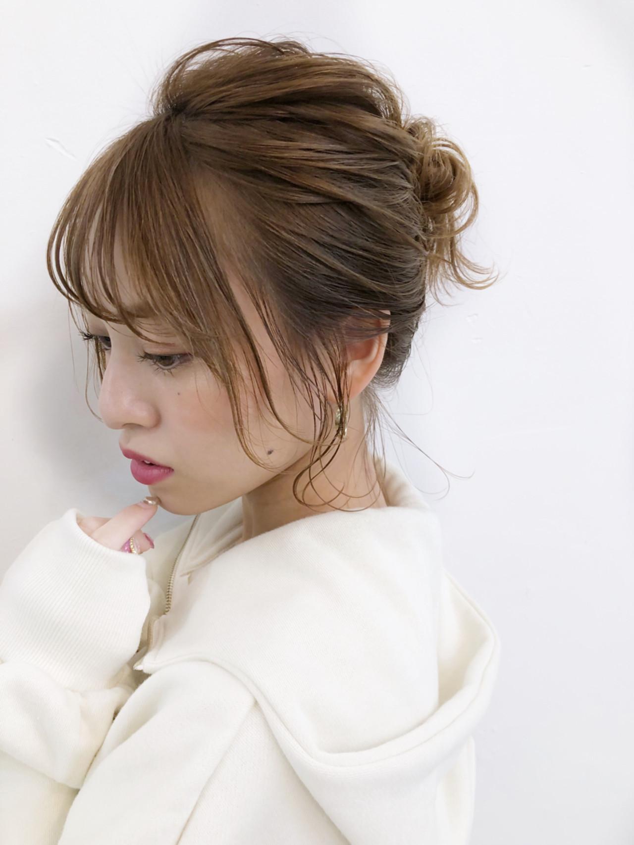 ニュアンスたっぷりお団子ひとつ結び 宮崎えりな KAYAK by HONEY