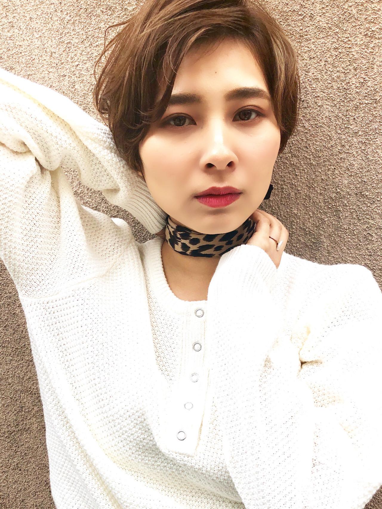 アップバングでベリーショートでも色っぽく 玉井千咲モリオフロムロンドン成増3号店