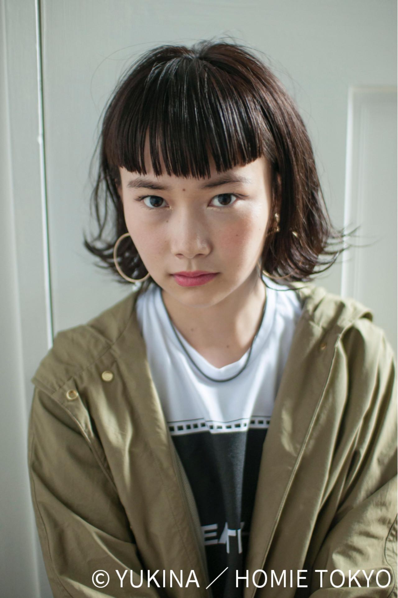 ワイドバングでつくる三戸なつめ風おしゃかわぱっつん! YUKINA / HOMIE TOKYO