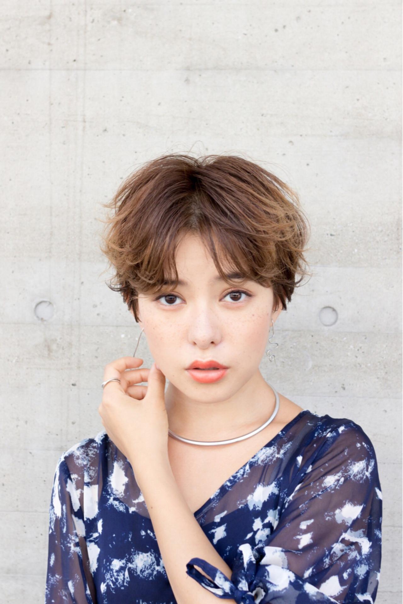 ラフパーマが似合う☆垢抜けショートヘア 江畠 大地