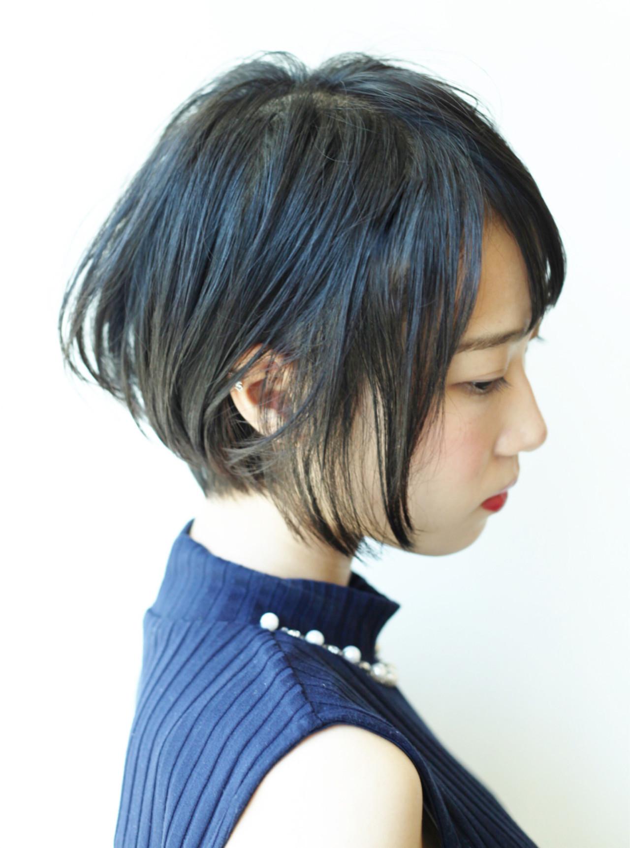 コンサバ系女子にピッタリ☆前下がり髪型似合わせヘア Hiro【morio London】