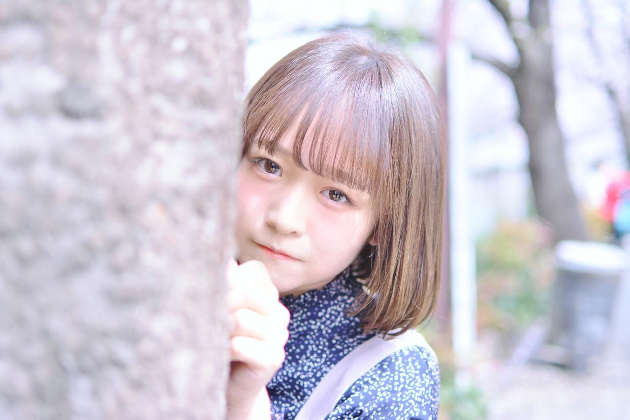 丸顔さんに♡おかっぱ風のワンカールぱっつんボブ Shiko Kajihara