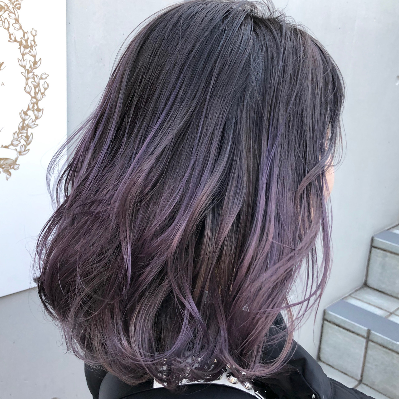 紫グラデーションで繊細な雰囲気 十亀 翔