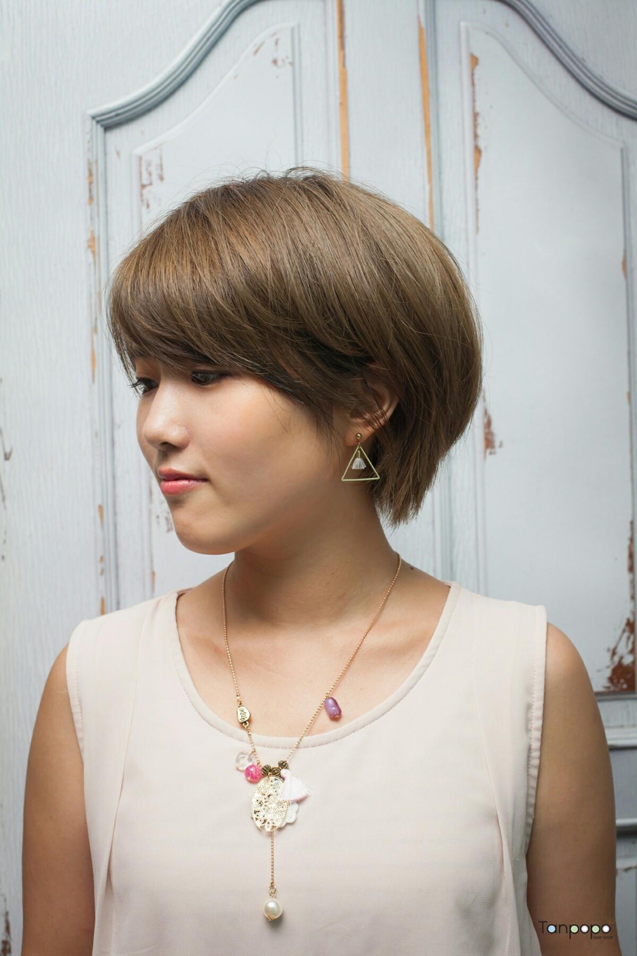 丸いフォルムでつくる☆小顔見せワンランクアップヘア 韓国のゴヨンジュ