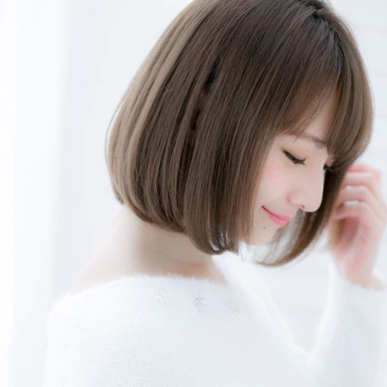 お嬢様風♡毛先ワンカールのモテショートボブヘア ROMA/LOREN ヒカル