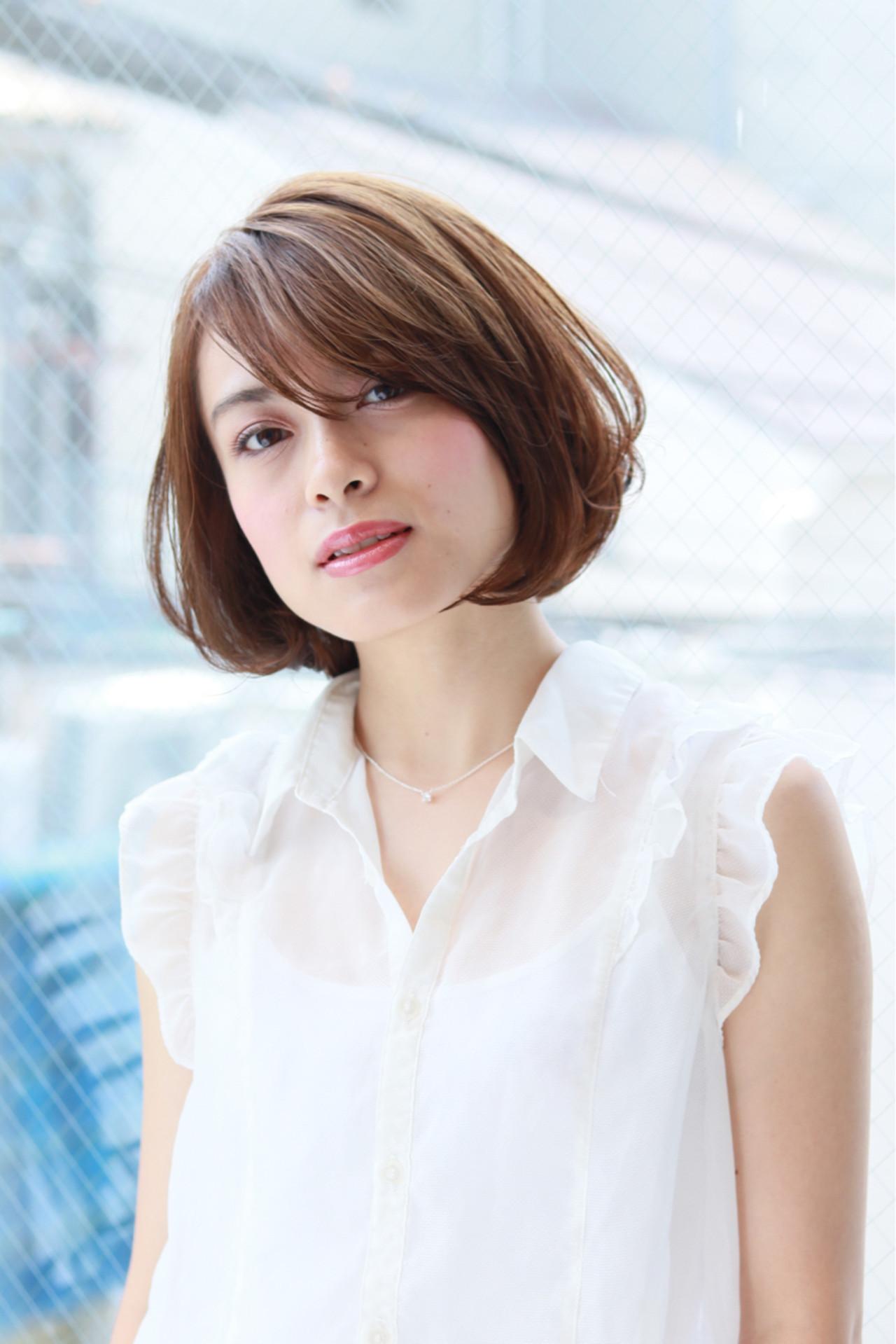 簡単 女子力 小顔 ナチュラル ヘアスタイルや髪型の写真・画像