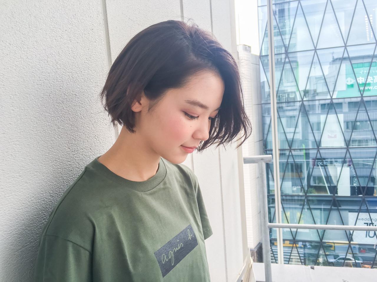 色気たっぷり♡丸顔輪郭隠しのふんわりワンレンボブ GARDEN harajuku 細田
