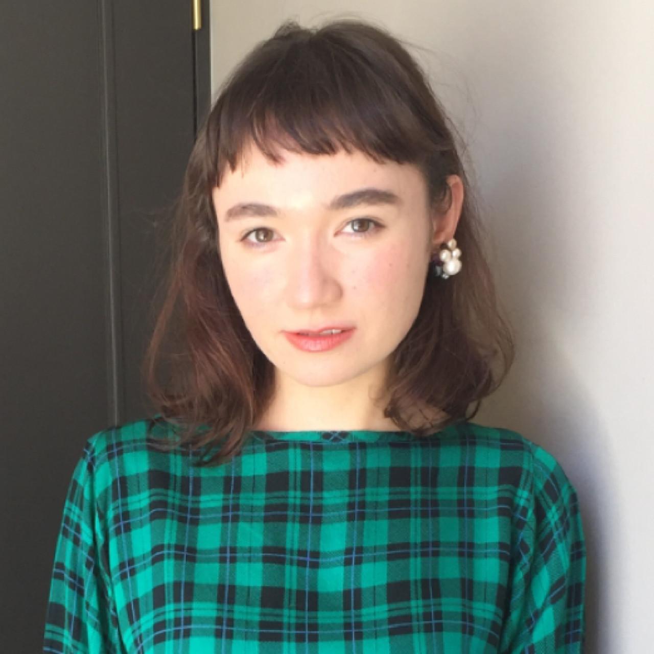 お嬢様風♡前髪なしに見える高い位置のオン眉ヘア 岩城 浩子