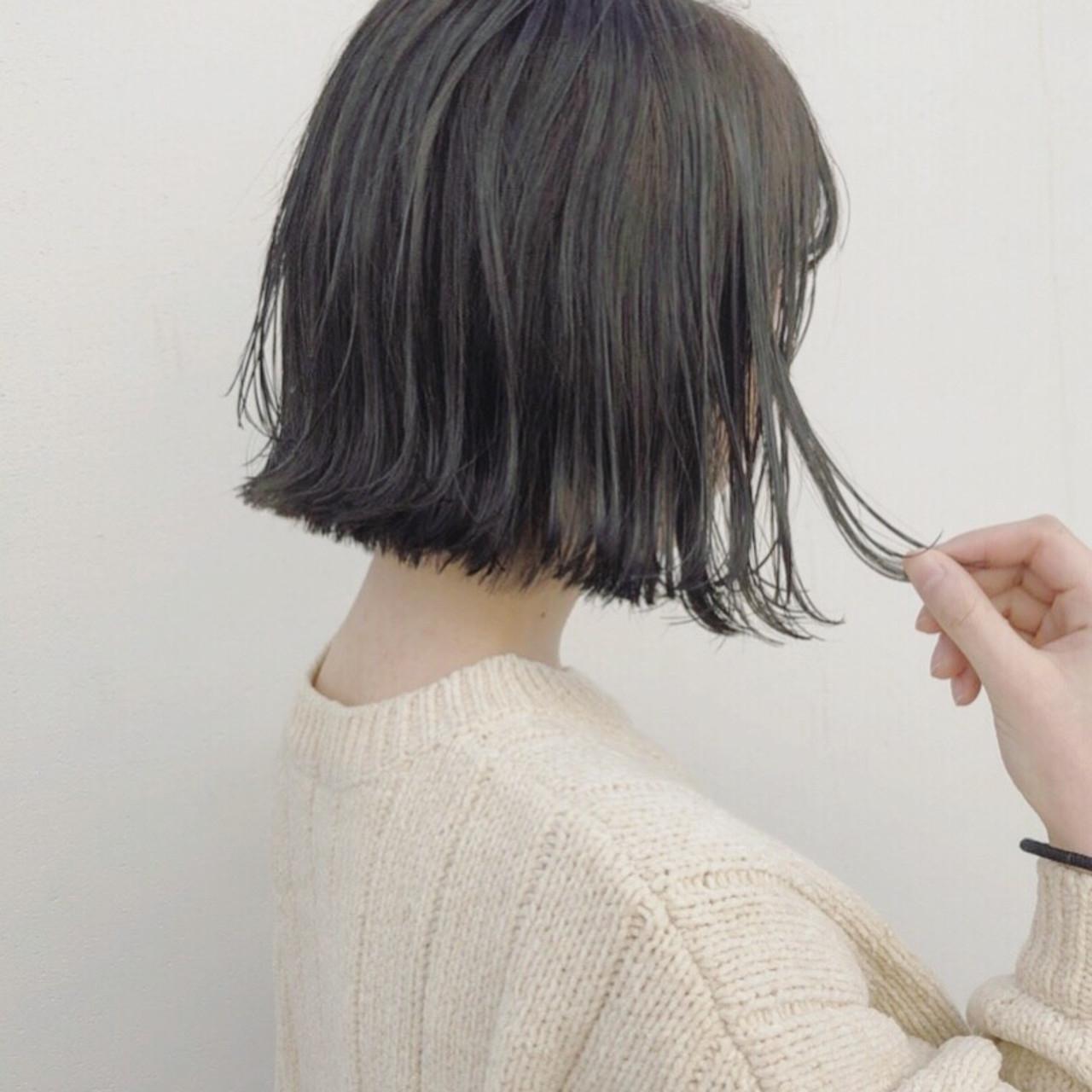 暗髪で魅せる切りっぱなしボブ 野口勇樹 Ruufus