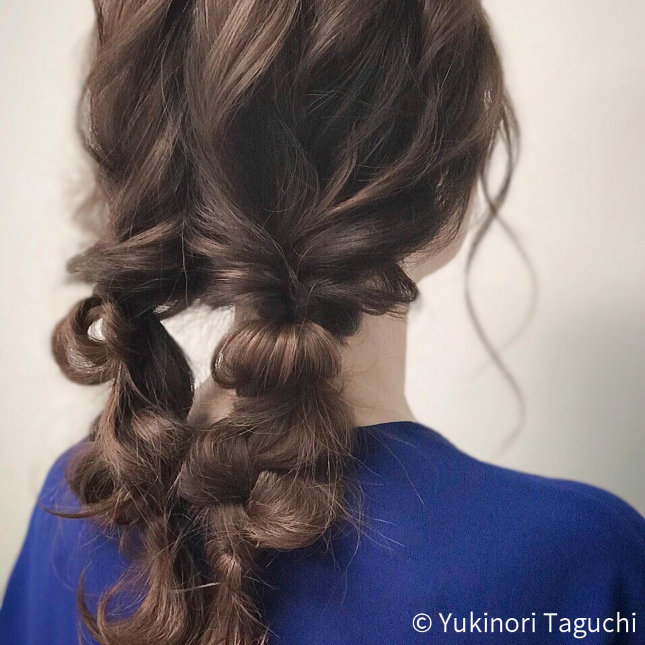 巻き髪 デート ヘアカラー セミロング ヘアスタイルや髪型の写真・画像