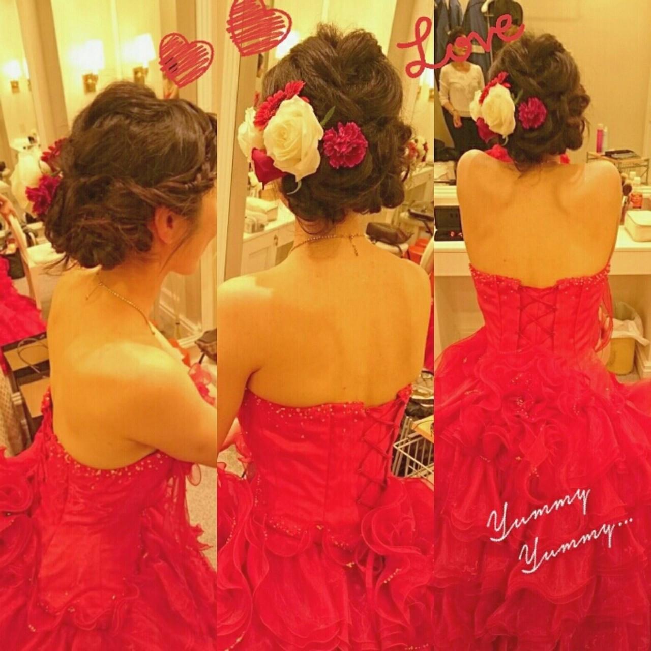 レッドのカラードレスはエレガントに 美和遥 FITZ(フィッツ)