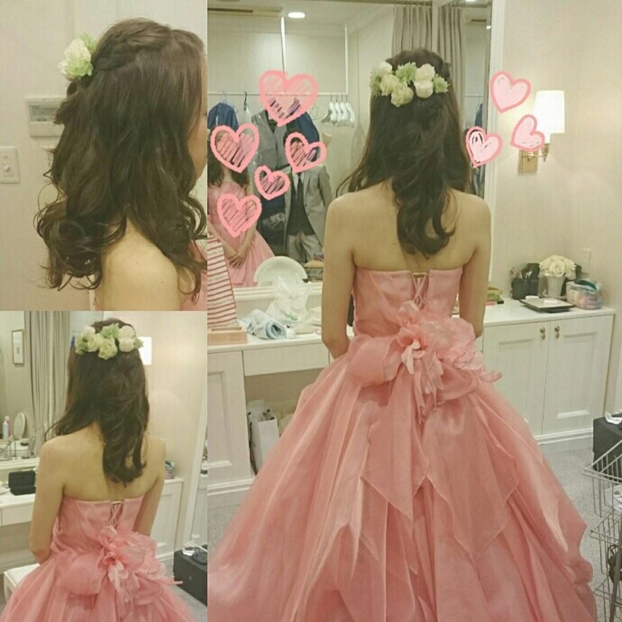 ピンクのカラードレスはフェミニンに 美和遥 FITZ(フィッツ)