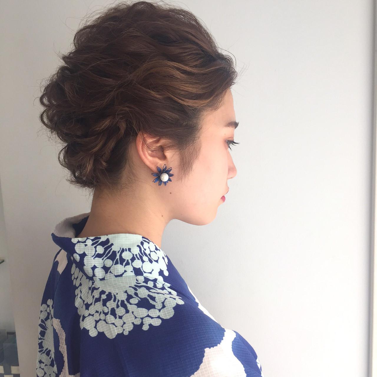 前髪アップで上品な美人スタイル 三大寺 慶悟