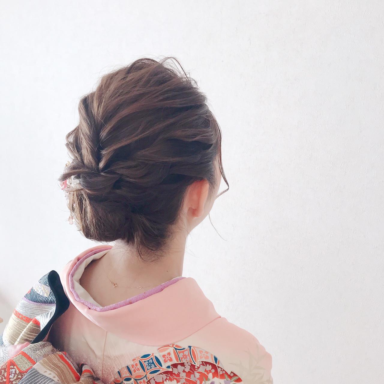着物に似合わせ♪編み込みアップヘア Moriyama Mami