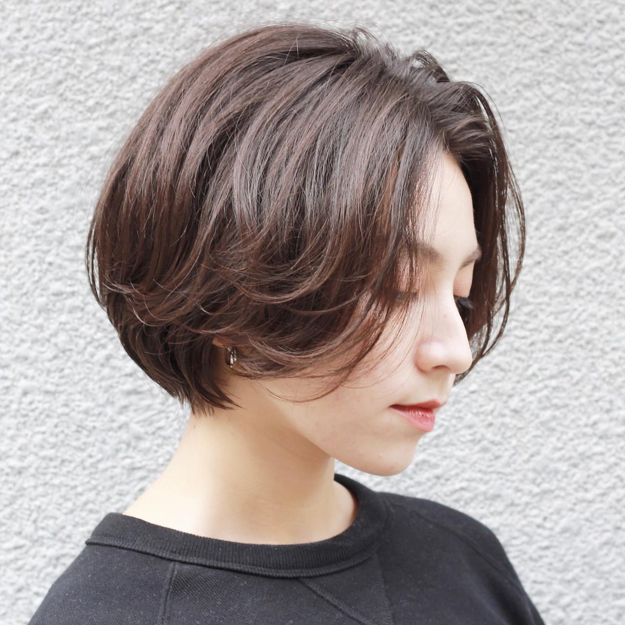 モテボブ ナチュラル 外国人風カラー ショートボブ ヘアスタイルや髪型の写真・画像