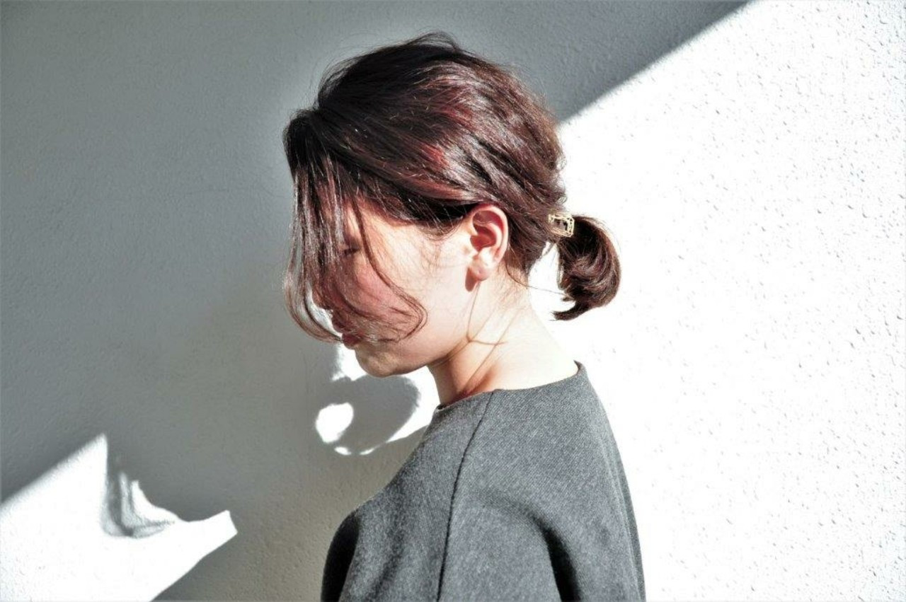 ヘアアレンジ くせ毛風 ナチュラル ボブ ヘアスタイルや髪型の写真・画像